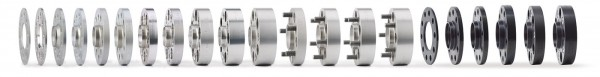 Spurverbreiterung für Touareg Typ 7P, 7p 130/5 71,6 14x1,5 DR 36 mm schwarz